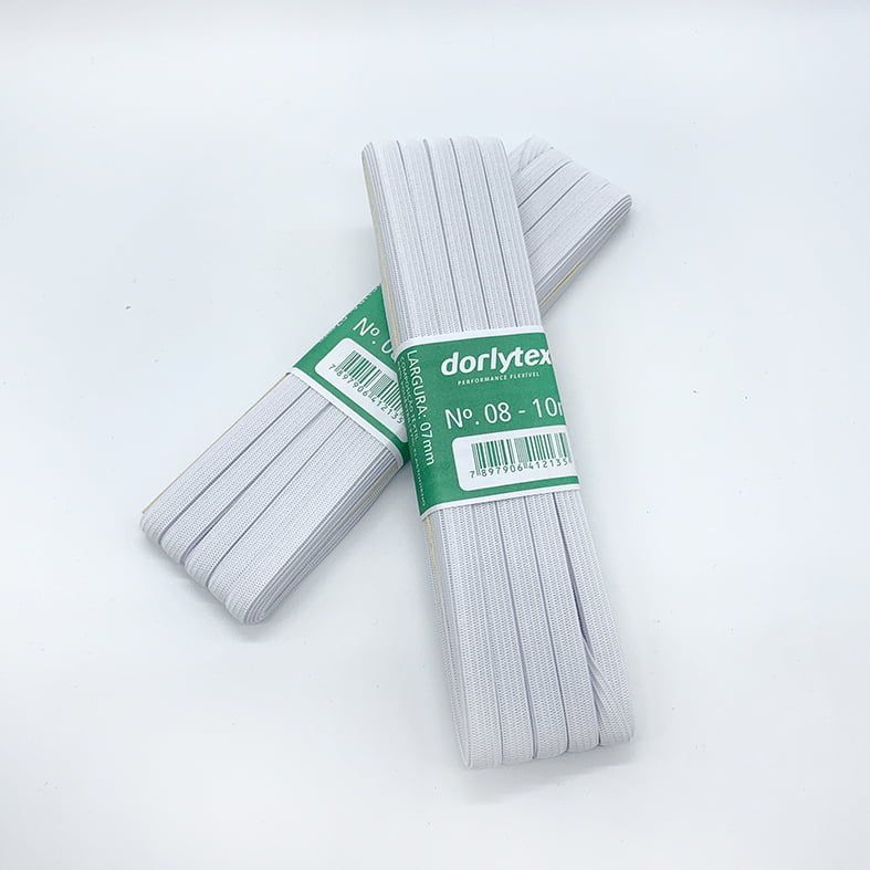 Elástico Chato Dorlytex   N08 - 7mm