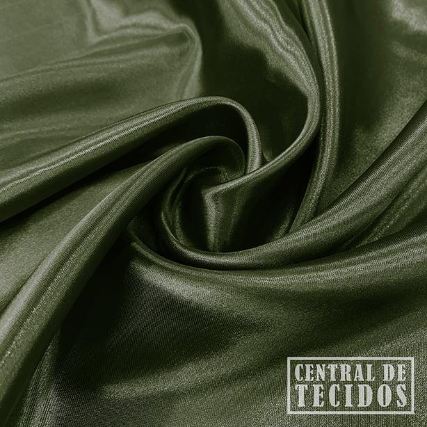Cetim Liso | Verde militar
