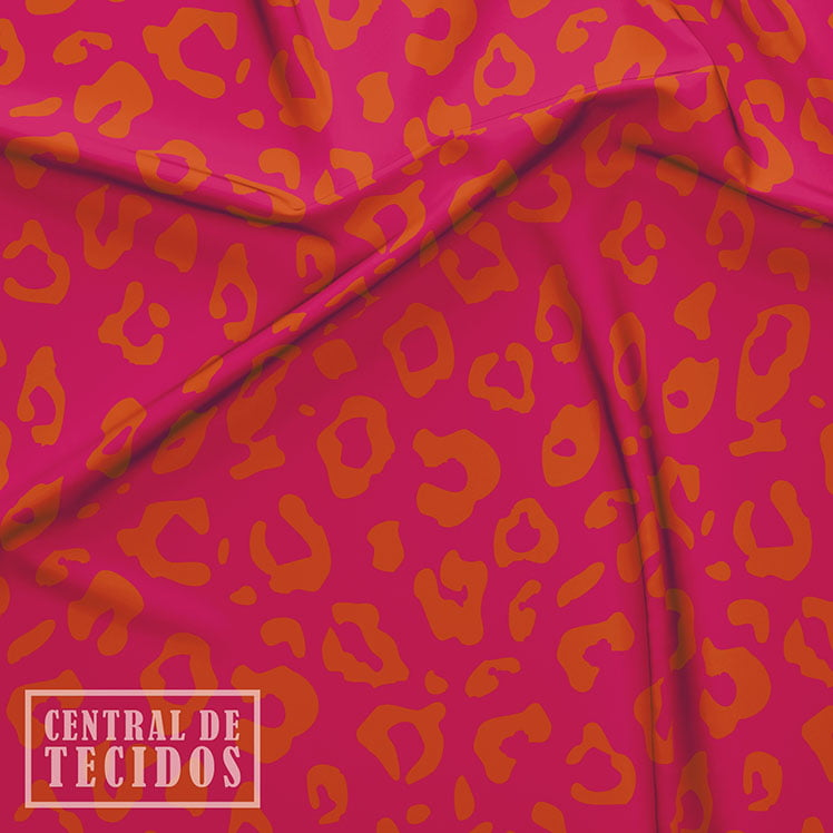 Supertouch Estampado | Animal Print Rosa e Laranja