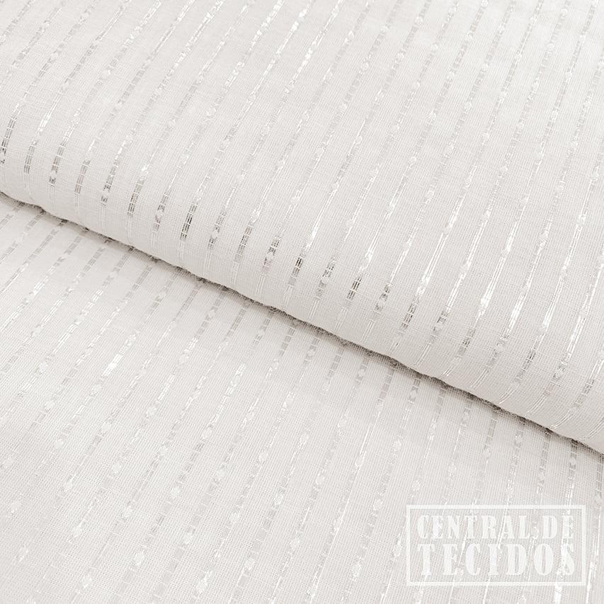 Cambraia Double Face Lurex | Off white