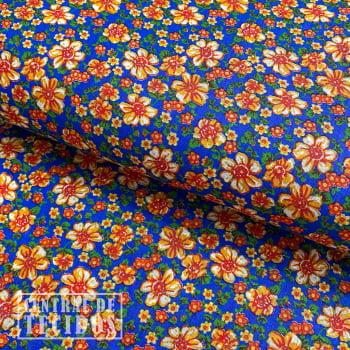 Chita Estampada | Azul Floral Florido