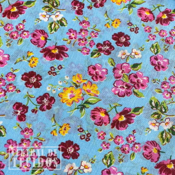 Chita Estampada | Ciano Floral Florido