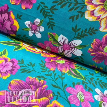 Chita Estampada | Turquesa Floral