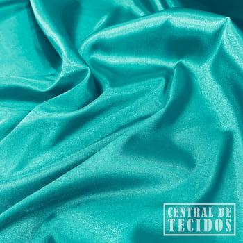 Cetim com elastano | Azul turquesa claro