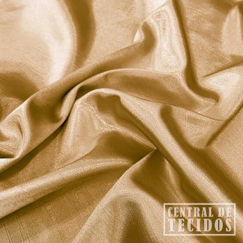 Shantung com elastano | Dourado