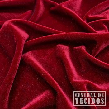 Malha Veludo Liso | Vermelho