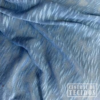 Malha Tricô Slub | Azul Jeans