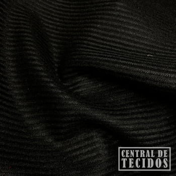 Tweed Liso | Preto