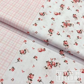 Tricoline Color | Barrado Faixas Floral