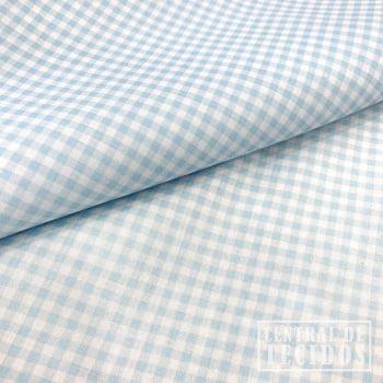 Tricoline Color | Vichy Azul Clarinho