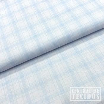 Tricoline Color | Xadrez azul claro