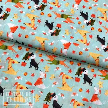 Tricoline Digital | Natal Cachorros na Árvore