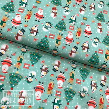 Tricoline Digital | Natal Papai Noel e Turma