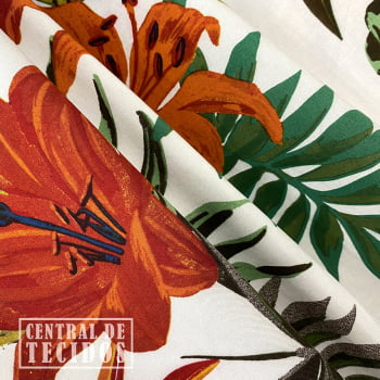 Popeline de Viscose | Floral Tropical