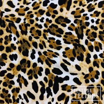 Viscose Bali Estampada   Mostarda Animal Print