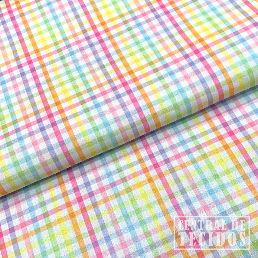 Tricoline Color   Vichy Colorido