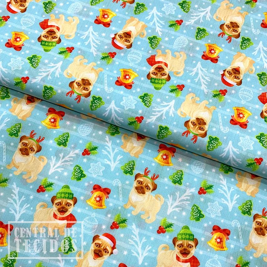 Tricoline Digital   Natal Pug de Alce