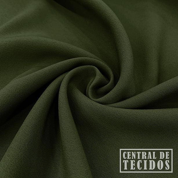 Gabardine Two Way com Elastano | Verde Militar