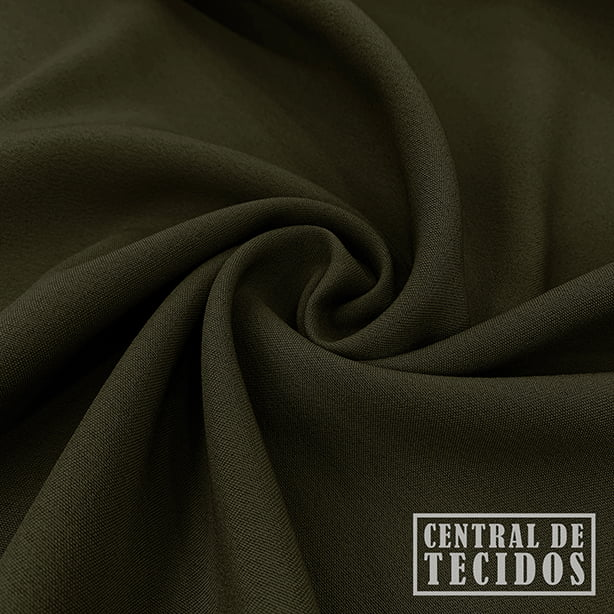 Gabardine Two Way com Elastano | Verde oliva