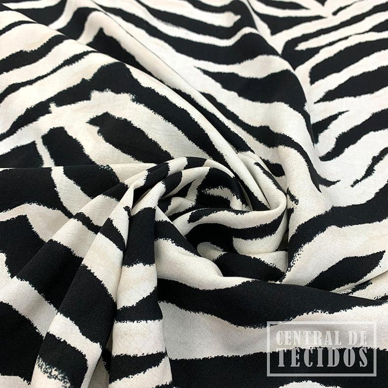 Viscose Bali Estampada | Zebra
